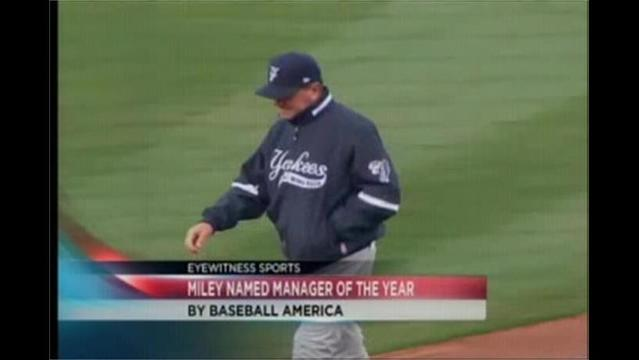 11/29- Miley Named Minor League Manager of the Year