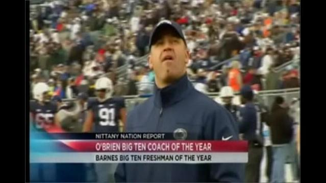 11/27- O'Brien Big Ten Coach of the Year:Barnes Big Ten Freshman of the Year