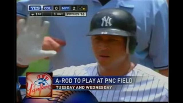 8/12- A-Rod to Play for SWB Yankees Tuesday and Wednesday at PNC Field