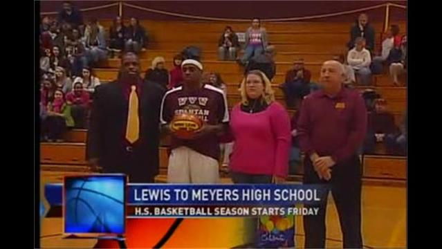 12/14- Eugene Lewis is eligible to play basketball at Meyers