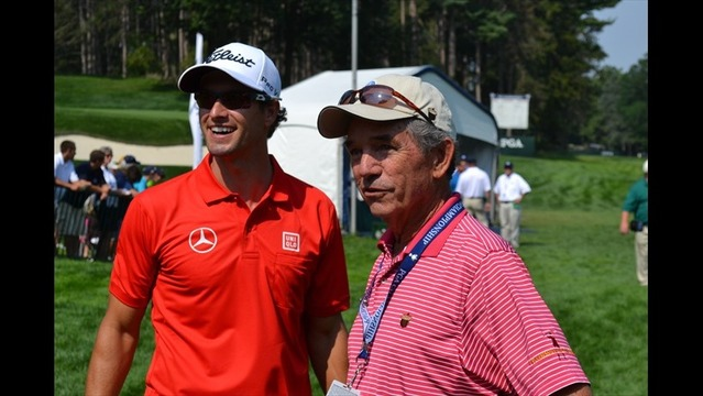 Adam Scott Greeted by Craig Harmon