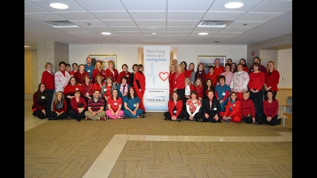Evangelical Employees and Volunteers Wear Red To Support the Fight Against Cardiovascular Disease
