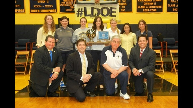 Old Forge Lady Blue Devils Honored