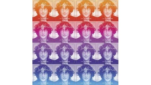 John Lennon Honored on USPS Music Icons Stamps