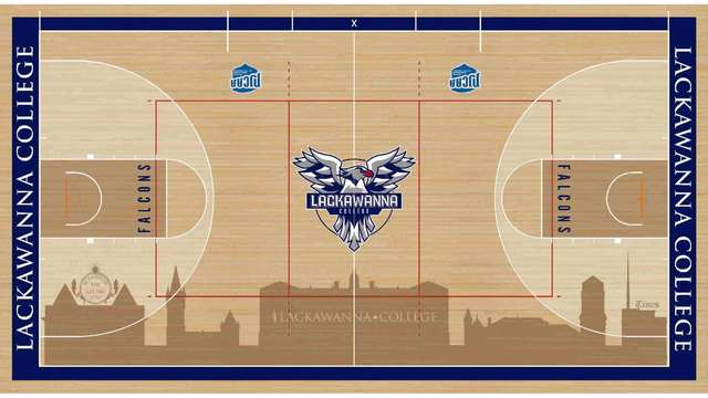 Lackawanna College Athletics Unveils New Gym Floor