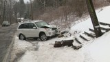 Driver loses control, crashes in Luzerne County