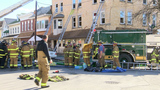 Entire apartment building displaced after fire breaks out